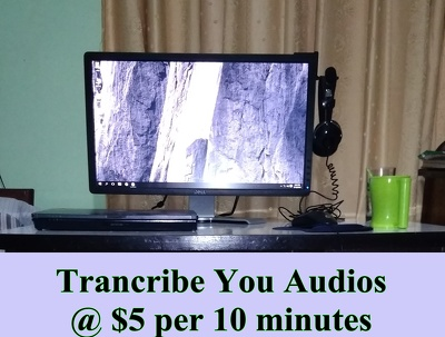Transcribe 20 Minutes English audios