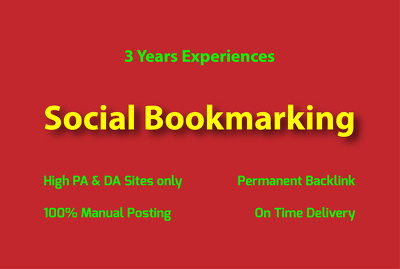 Publish Backlink Social Bookmarks site Manually