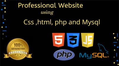 Design  and develop custom website  in html , CSS and JavaScript