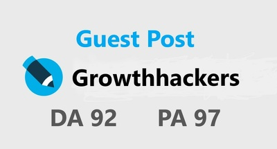 Only publish your content guest post on Growthhackers DA63 PA57
