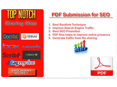 Do pdf submission to 50 high quality document sharing sites