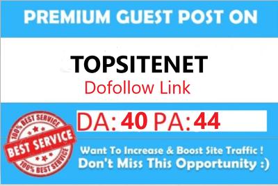 Write & Publish Guest Post on Topsitenet DA40