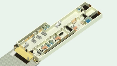 Create 2d and 3d floor plan using revit architecture