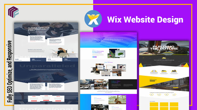 Build a professional wix website with SEO Optimization
