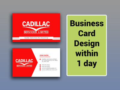 Design a business card  within 1 day