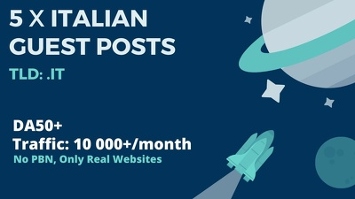 5xDA50+ Guest Post on Italian .IT Websites, Traffic 10 000+