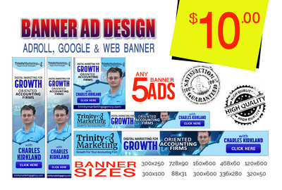 Design adroll ads, google adwords, web banners