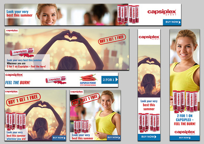 Design 8 sizes of google ads banners / banner ad set