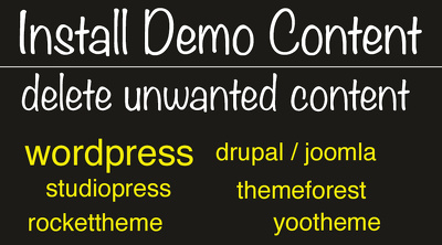 Install demo theme template  wordpress joomla drupal html / css