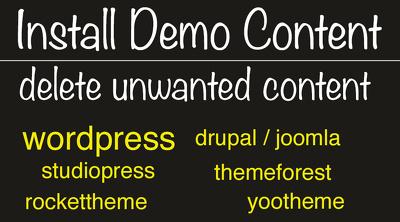 Install demo theme template  wordpress joomla drupal html / css