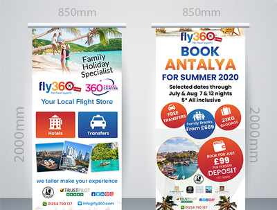 Design Professional Roller Banner with Unlimited revision