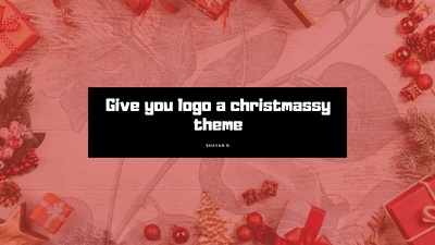 give your logo a christmassy theme