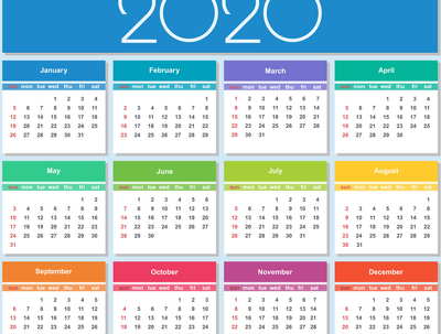 Create 2020 calendar in any format you like