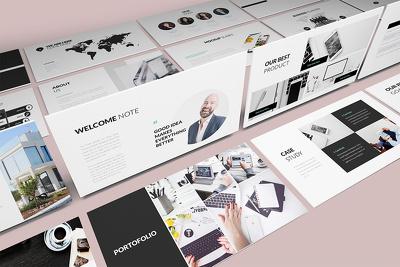 Make a Modern Investor Pitch Deck Presentation Upto 10 Slides