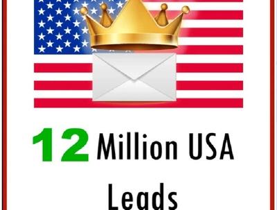 Give you 12 million USA leads, 12 million Emails Database
