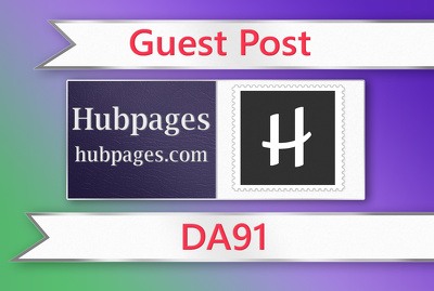 Write & publish guest post on Hubpages DA 91 with one backlink