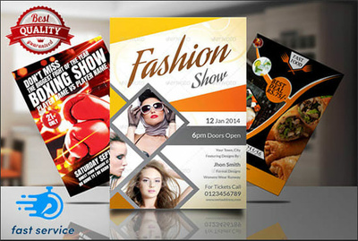 Design sports, fashion, music, food and party events flyers