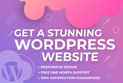 Build a Professional WordPress website of 6 pages