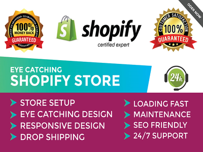 Fully design automated shopify dropshipping store