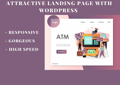 Create an attractive landing page in Wordpress