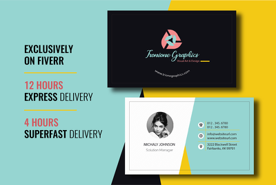 Design creative and professional business card in 10 hours