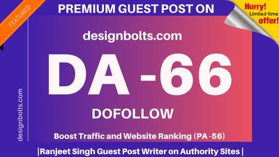 Publish Guest Post on designbolts/designbolts.com DA 66