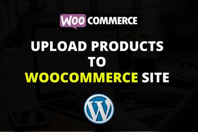 Upload 30 Products on Woocommerce/WordPress