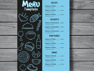 Design an amazing flyer, food menu, any kind of menu design