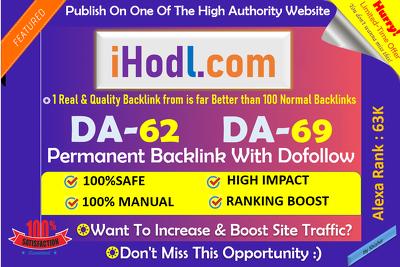 Publish HQ Crypto Guest Post on iHodl.com (DA 62, PA 55)