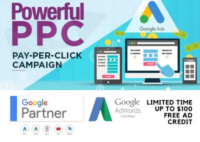 Setup Optimized Google Ads For Sales or Leads - $100 Ad Credit