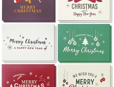 Design a customized Christmas or New Year greeting card with unl