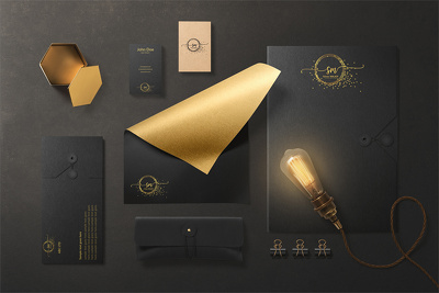 Design business card and brand identity and letterhead