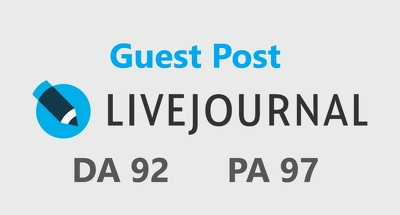 Write & Publish Guest Post on Livejournal DA92