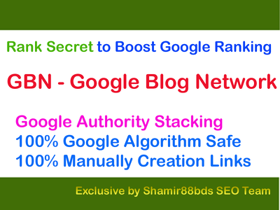 Rank Secret GBN v1 Google Blog Network to Boost Google Ranking