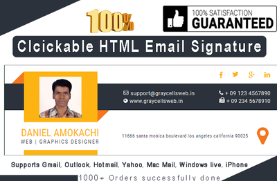 Design & code your clickable HTML email signature