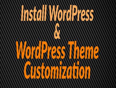 Install WordPress set Premium theme and Plugins