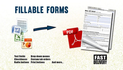 Convert your file to an interactive PDF fillable form