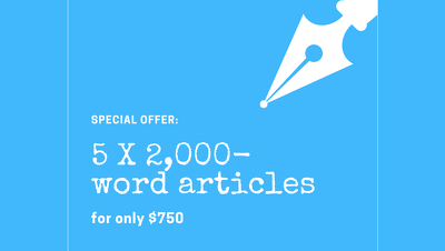 Write 5 x 2,000 word HIGH QUALITY articles