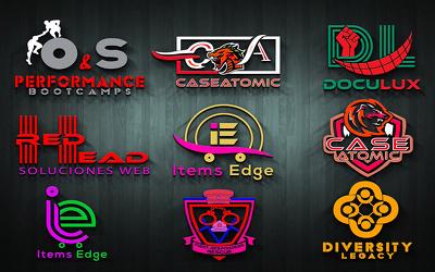 Create 10 innovative brand name, domain name with logo design