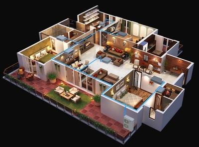 Convert 2D plans into 3D design (one room interior)
