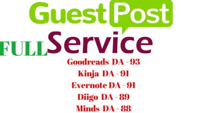 Write And 5 Guest Posts On 5 Top Authority Sites DA 88-94