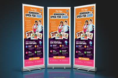 Design Professional roll up banner/pull up banner within 24 hour