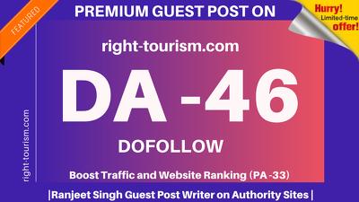 Publish Guest Post on right-tourism/right-tourism.com DA 46