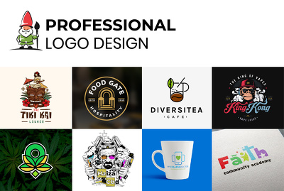 Design bespoke logo 2-3 concept with unlimited revisions+Artwork