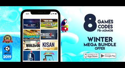 Offer 8 Games Source Codes Winter Mega Bundle Unity 3D 64 bit