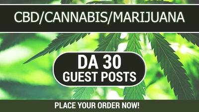 Guest post on DA 30 CBD, Cannabis, Marijuana and Vaping Website