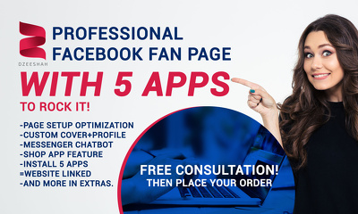 Make a professional facebook fan page with 5 apps to rock it