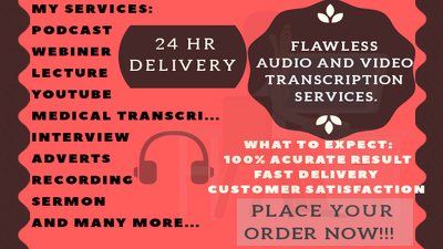 Accurately transcribe your 30 minutes file.