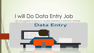 Do Data Entry and Web Research for you