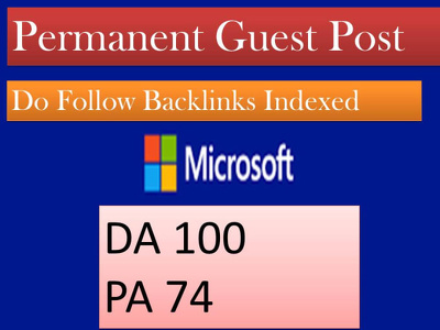 Guest post on Microsoft high DA 100